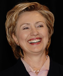 hillary clinton grin 